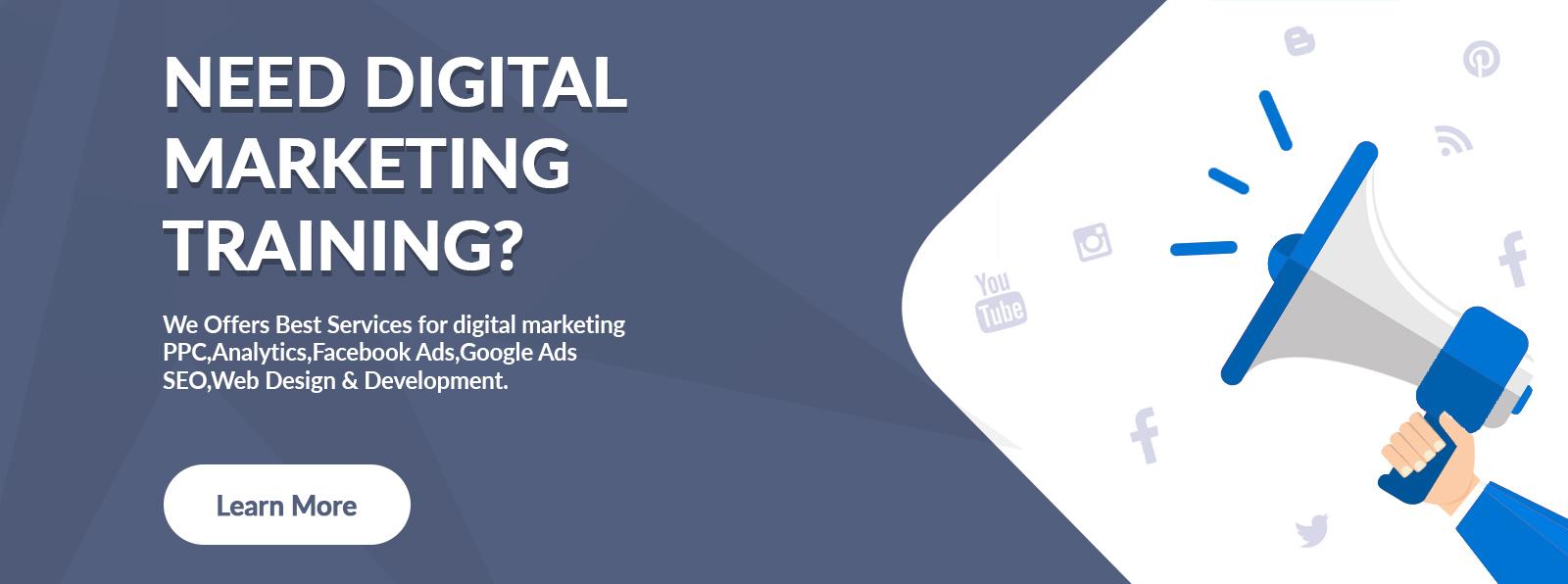 need digital marketing training